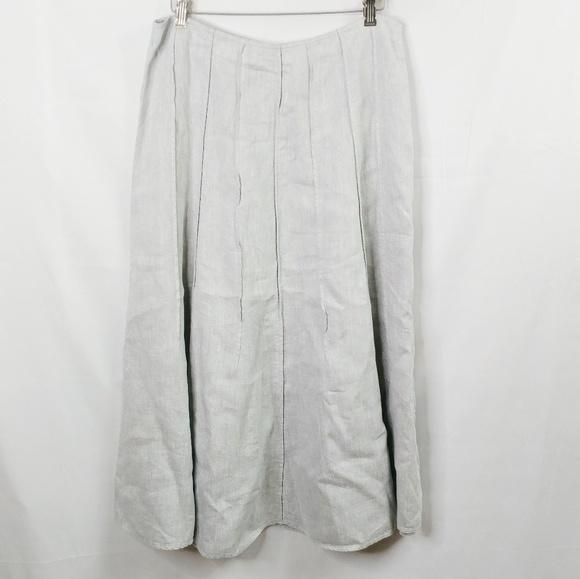 9ea4f641897 J. Jill Dresses   Skirts - J. Jill 12 Shimmer Gray Linen Blend Long